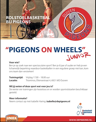 Uniek sporten Pigeons on wheels